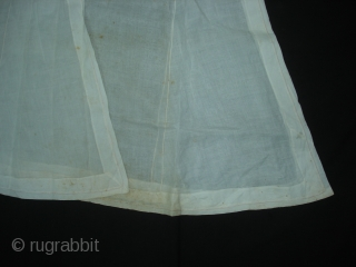 Angarkha(Coat)fine Muslin Cotton with Applied work,From Lucknow ,Utter Pradesh. India.C.1900.Worn by Royal Nawab Muslims Family Of Lucknow(DSC06508 New).