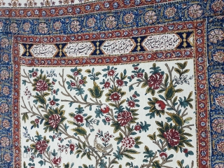 Palampore,Painted and dyed cotton chintz From India.Its an indian chintz which is export to Persia.Its size is 139cmX258cm(154936).