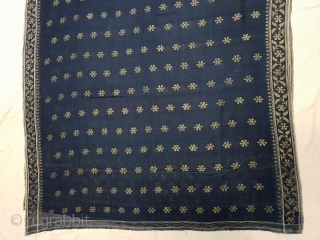 Dhakai Jamdani Saree Indigo blue Natural Colour, Cotton with Real Zari weaving From Dhaka District, of Bangladesh. India. Jamdani was originally known as Dhakai named after the city of Dhaka, Jamdani is  ...