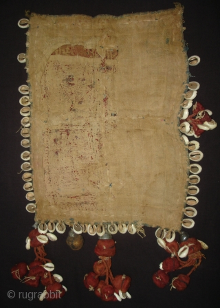 Ceremonial Banjara Gala From Karnataka,South India. India.Embroidered on cotton. Gala is traditionally used by women to carry pots on their heads.C.1900.Its size is 26cmX33cm(DSC06822 New).