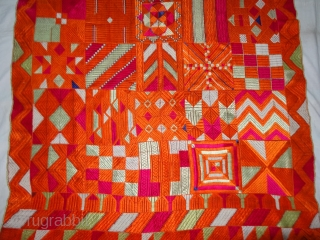 """Bawan Bagh From East(India)Punjab India.Known as """"Bawan Bagh"""" Its Hand spun cotton plain weave (khaddar) with silk and cotton embroidery. Bawan means fifty-two in Punjabi and refers to the mosaic of fifty-two different  ..."""