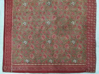 Manchester Print Book Cover(Cotton),For the holy Book, From Manchester England made for Indian Market.Roller Printed on Cotton.its size is 71cmX71cm(144534).