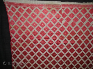 Phulkari From West(Pakistan)Punjab. India.Known As Wedding Thirma Bagh.Very Rare influence of Patang Design Thirma Bagh(DSC00904 New).