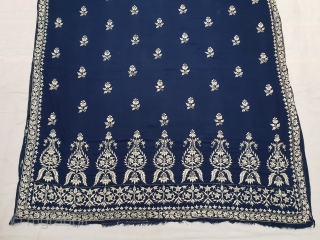 Dhakai Jamdani Saree Indigo blue Natural Colour, With Silk Embroidery on Cotton. This type of weaving From Dhaka District, of Bangladesh. India. Jamdani was originally known as Dhakai named after the city  ...