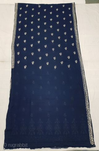 Dhakai Jamdani Saree Indigo blue Natural Colour, With Silk Embroidery on Cotton. This type of weaving From Dhaka District, of Bangladesh. India. Jamdani was originally known as Dhakai named after the city  ...