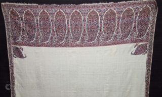 Highly Sikh Period Palledar Shawl of Kani Jamawar, From Kashmir, India. c.1820-1840. Its Size is 130cmx300cm (DSC08522).