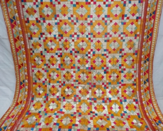 Chamba Phulkari From Hill Area of Himachal Pradesh. India. Known as Chamba Phulkari. c.1900.Its size is 137cmX260cm(DSC07258).
