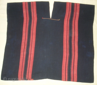 Indigo Blue Cotton costume From Chin Hills (Chin Hills are a range of mountains in Chin State, northwestern Burma (Myanmar), that extends northward into India's Manipur state) North-East India. India. Belongs to  ...