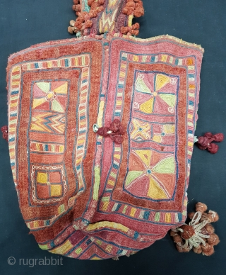 Ceremonial Banjara Four-sided Dowry Bag,Embroidered on cotton,From Madhya Pradish. India (20171214_154342 New).