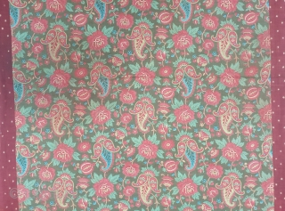 Manchester Print Book Cover(Cotton),For the holy Book, From Manchester England made for Indian Market.Roller Printed on Cotton.its size is 75cmX88cm(20191210_153411).
