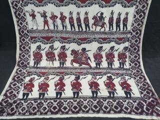 Figurative Kalamkari, Hand-Drawn,  Mordant- And Resist-Dyed Cotton, From masulipatnam South India. India. C.1870-1900. Its size is 115cmX218cm (20210103_130838).
