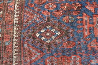 So called Timuri, main carpet, 230x170 cm. A lot of good pile but partially hard wear. All good colours, nice wool and some corrosion. A very interesting rug for little money.