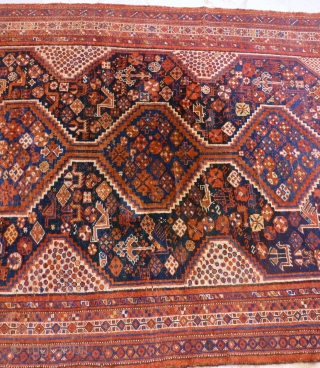 Antique Chiraz, 230 x 160. Need to be washed.