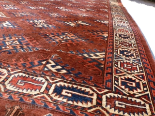 Yomuth Dyrnak Gul 340 x 195, very fine weaving, very soft wool,  Price upon request