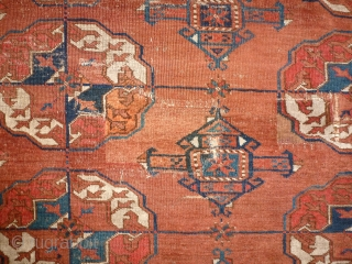 Antique Tekke 338 x 246 good size A small area with low pile Reasonable price accepted