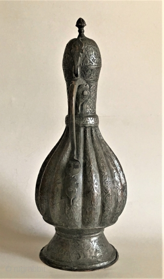Another ewer with melon shaped body, Uzbekistan 19th c