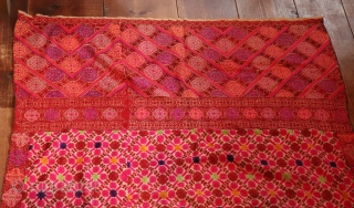 """Large Swat textile measuring 93"""" x 45.5"""" with minute embroidery perfect condition , collected in the field back in the late 50's and been put away."""