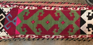 "Central Asian cross stitched Lakai style Surkanderya  band  measuring 12' 9"" x 4"" Wide