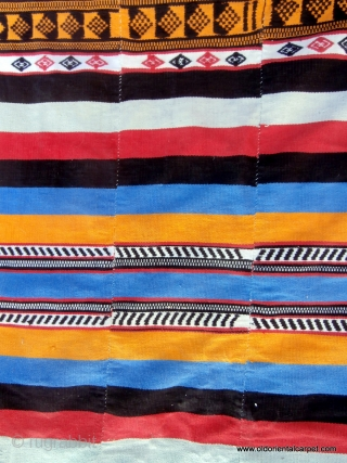 """KILIM / FLAT WEAVE called """"Kpoke"""" and woven by the Mende people in Sierra Leone in West Africa. The women of this group spin the fine cotton required for these kilims but  ..."""