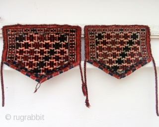 YAMOUT TURKOMAN ANIMAL TRAPPINGS. A rare pair of trappings which are thought to be decorations for the knees of a camel on ceremonial occasions. Siawosch Azadi mentions them in his excellent book,  ...