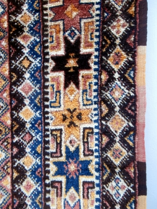 MOROCCAN HIGH ATLAS CARPET which is exceptionally large and originates from the Ait Tamassine Berbers of the High Atlas between Marrakech and the pre Sahara. It is about 60 years old and  ...