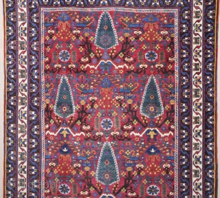 19th Century Unusual Design Colorful Avshar Rug.It's in Perfect Condition.Size 122 x 165 Cm