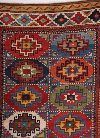 Circa 1850s Unusual Colorful Moghan Rug Size 128 x 265 cm Perfect Condition