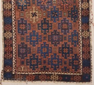 Mid. 19th Century Belüch Rug ıt has good pile on it. Size 83 x 134 cm