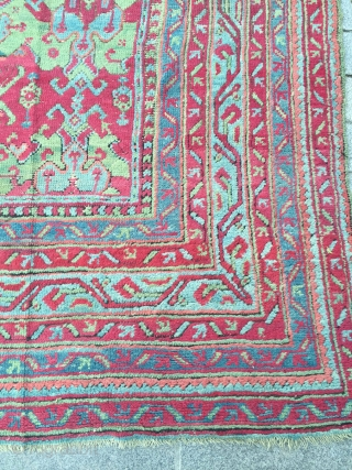 19th Century Ushak Rug.It's in Perfect Condition Size 355 x 375 Cm Reasonable One.