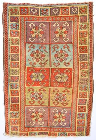 19th Century Unusual Anatolian Sivas Yastık Size 60 x 90 cm
