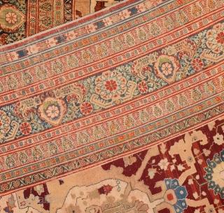 Very Fine Tabriz Silk Rug size 132x186 cm