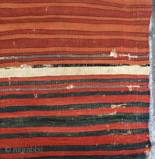 Very fine early west anatolian kilim fragment size 72x90 cm