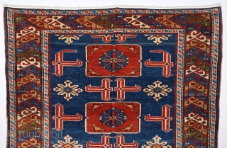 19th Century Schirvan Karagasli.It Has Full Pile And Happy Colors.Size 115 x 150 Cm