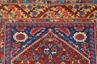 18th Century Anatolian Kula rug Size 130 x 175 cm. It's in good condition and has great wool. The back is extra fine like Transylvanıa.The weave is quite thin, soft in texture  ...
