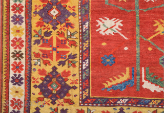 Prayer rugs from Milas, an old Greek settlement in South West Anatolia, were exported into every part of the Ottoman Empire during the 19th century. They are often depicted in paintings by  ...