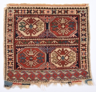 Mid 19th Century Shirvan Bag Face It has in good condition and happy colors.Size 45 x 50 Cm