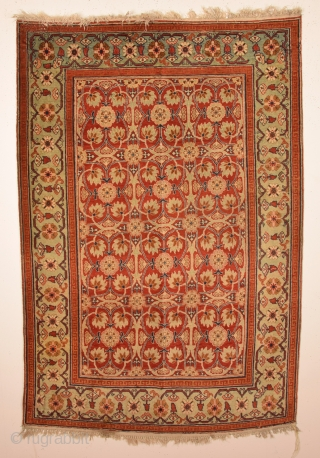 19th Century Unusual Persian Rug ın good condition and completely original untouched one.Size 110 x 160 cm