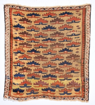 Early 19th Century Really Unusual Anatolian or Belüch Small Rug Size 67 x 72 Cm