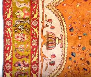 Late 19th Century Turkish Probably Sivas An Unusual Silk Rug Size 138 x 200 cm