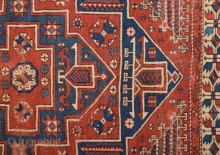 Early 19th Century Anatolian Bergama Rug.In Good Condition and Colorful one.Size 145 x 205 Cm