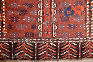 Lovely Colors Circa 1800s Yamud Engsi It Has Unusual Elems Size 135 x 180 cm
