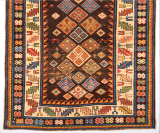 An Unusual 19th Century Shirvan Rug Size x 104 x 143 Cm.