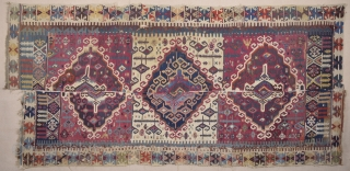 Early 19th Century Reyhanlı Area Kilim Size 160 x 350 Cm.Untouched As found it.