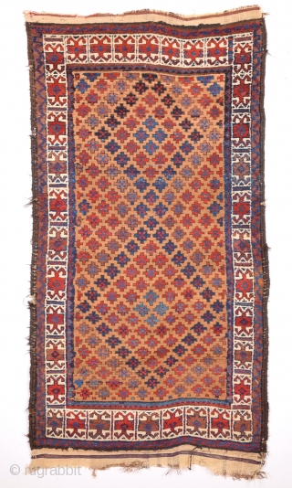 19th Century Baluch Rug It's in Really Good Condition.All The Colors Are Natural.Even Has Original Kilim Ends.Size 80 x 160 Cm.Untouched one symmetric knotted.