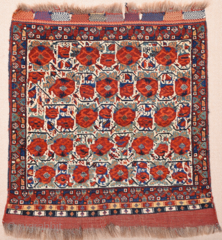 Circa 1870s or Early Persian Khamseh white bag face in perfect condition size 78 x 80 cm