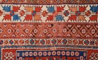 Late 18th Century West Anatolian Bergama Rug.Size 160 x 185 cm