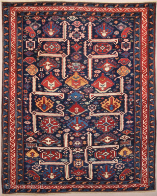 Amazing Colors ! Middle of the 19th Century Shirvan Rug Size 122 x 150 cm