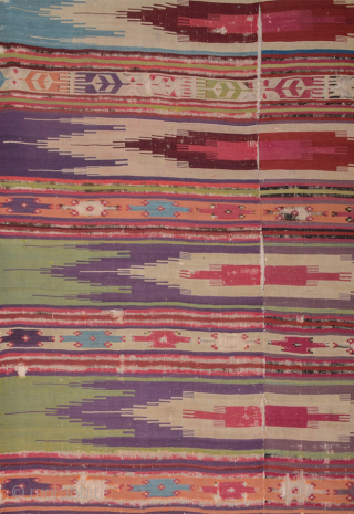 Rare Example! 18th Century Reyhanlı Safh Kilim Size Size is 160 x 370 cm All colors are great all original untouched piece.