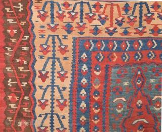 19th Century Anatolian Erzurum Kilim 160 x 183 Cm