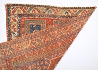 19th Century Caucasian Fahrola Rug 107 x 143 Cm.